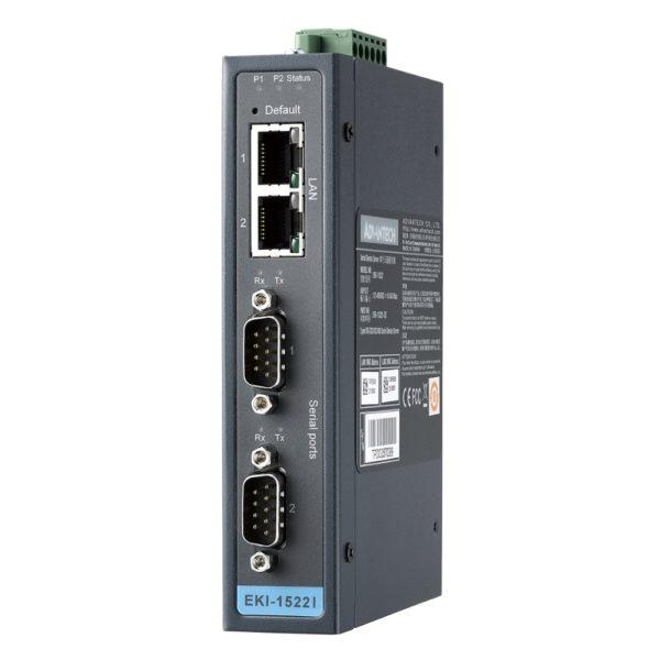 EKI-1522 Serveur 2 ports DB9 sur Ethernet